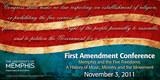 First Amendment Conference Banner.