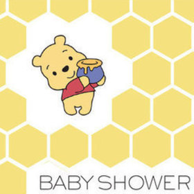 Pooh Bear Baby Shower Invitation