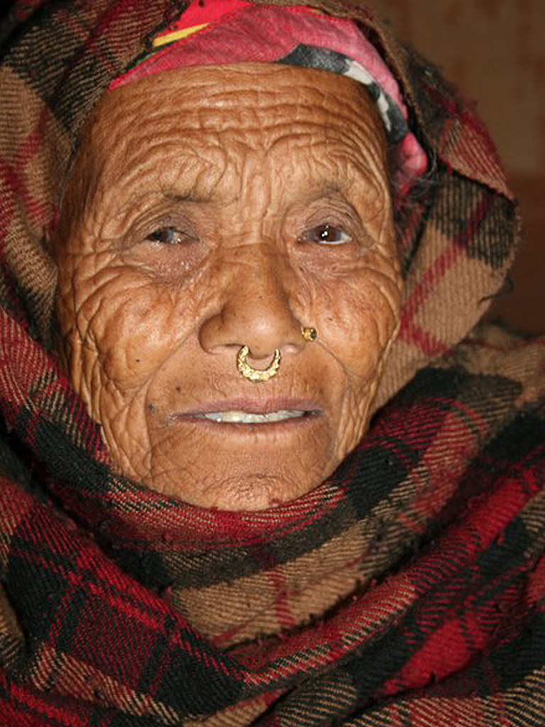 Tribal Tamang Grand Mother