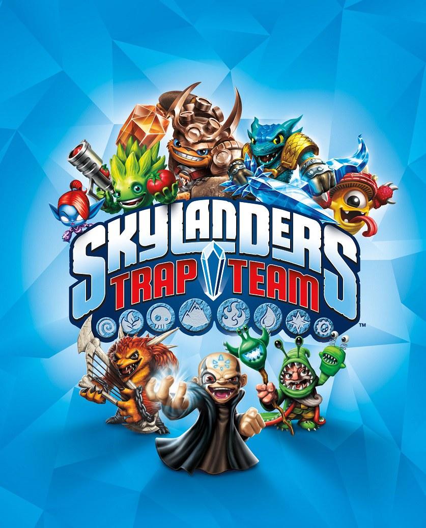 Skylanders Trap Team Game Cover Design