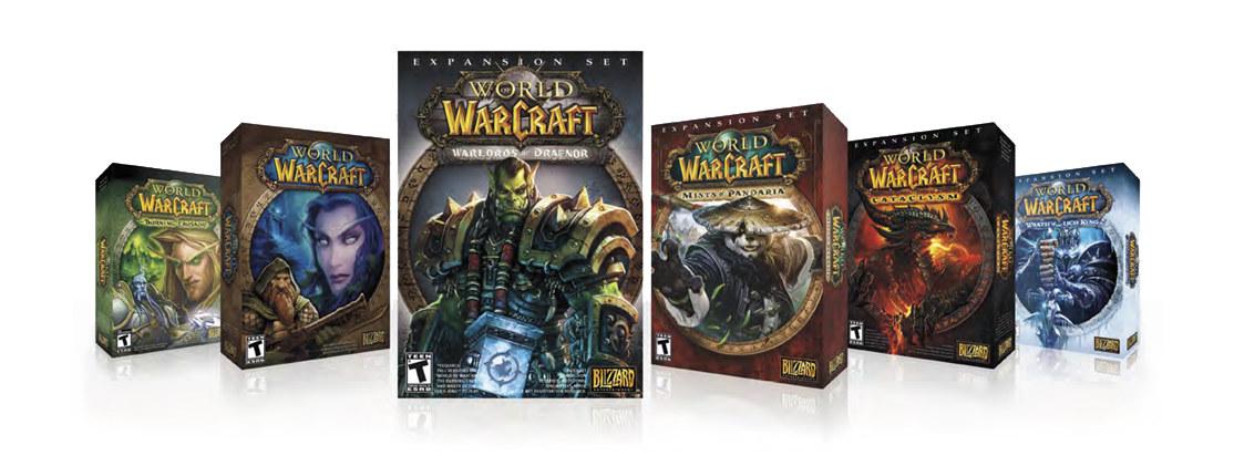 World of Warcraft Warlords of Draenor Logo on Box Exploration