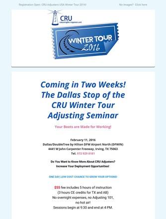 CRU Recruitment Seminar MailChimp Email.