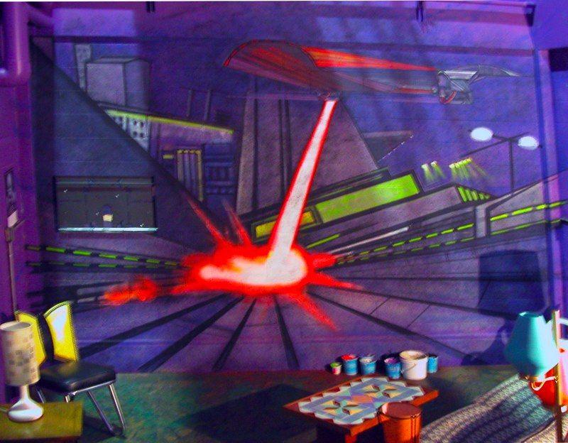 """""""NUMB3RS"""" mural gaming """"den"""""""