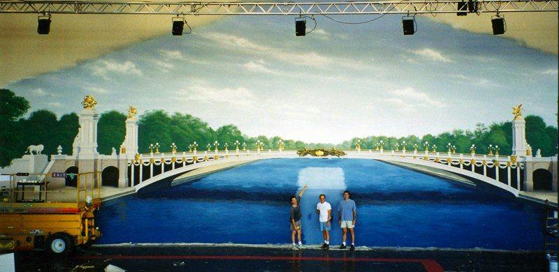 """""""PONT NEUF"""" painted backdrop"""