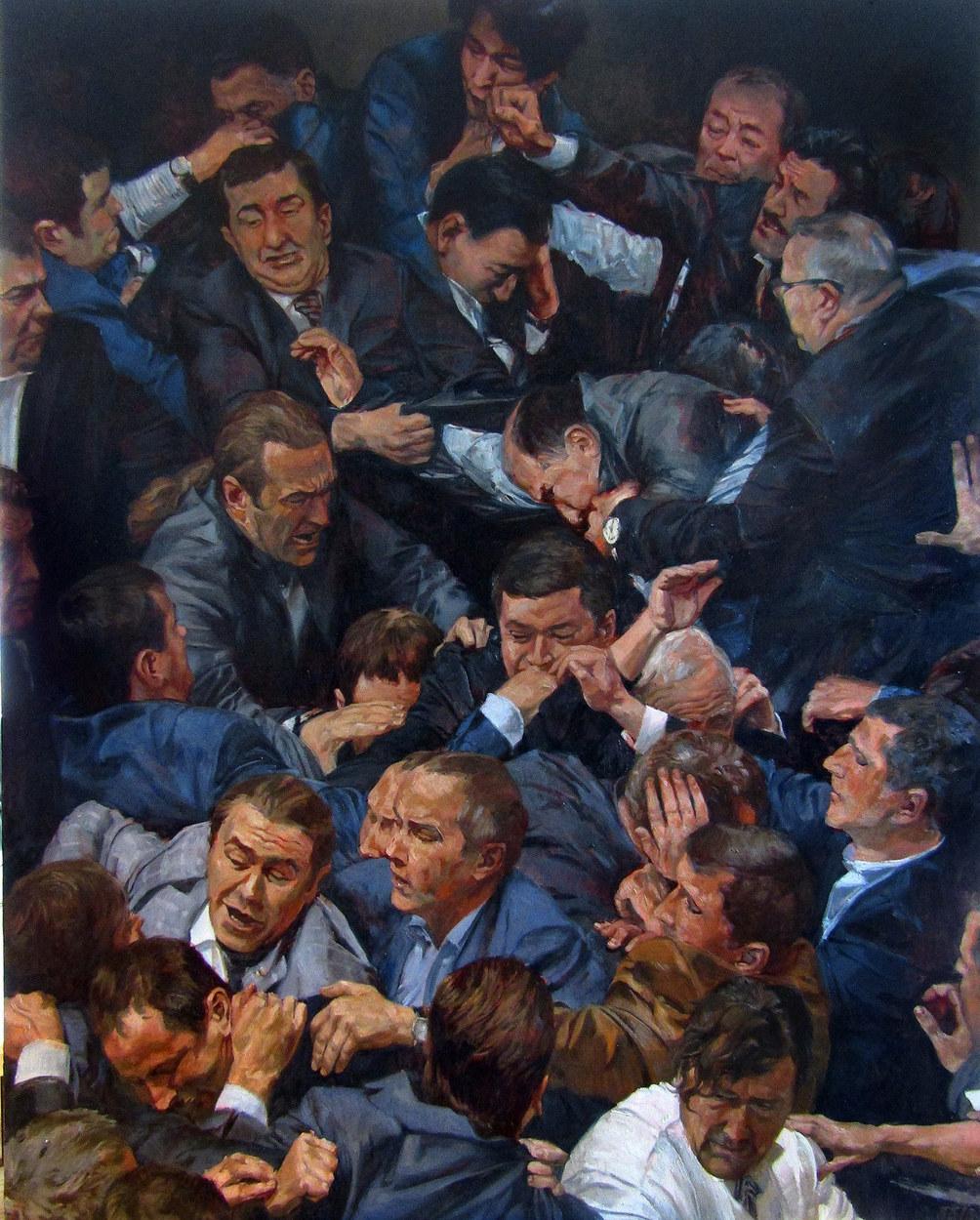 """Legislators  oil on canvas 60""""x50""""  2016"""