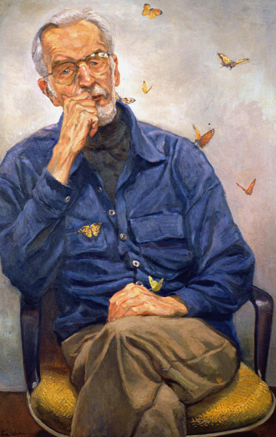 "Yale Univ. Professor Emeritus, C. Edward Lindblom   oil on canvas   48""X32"""