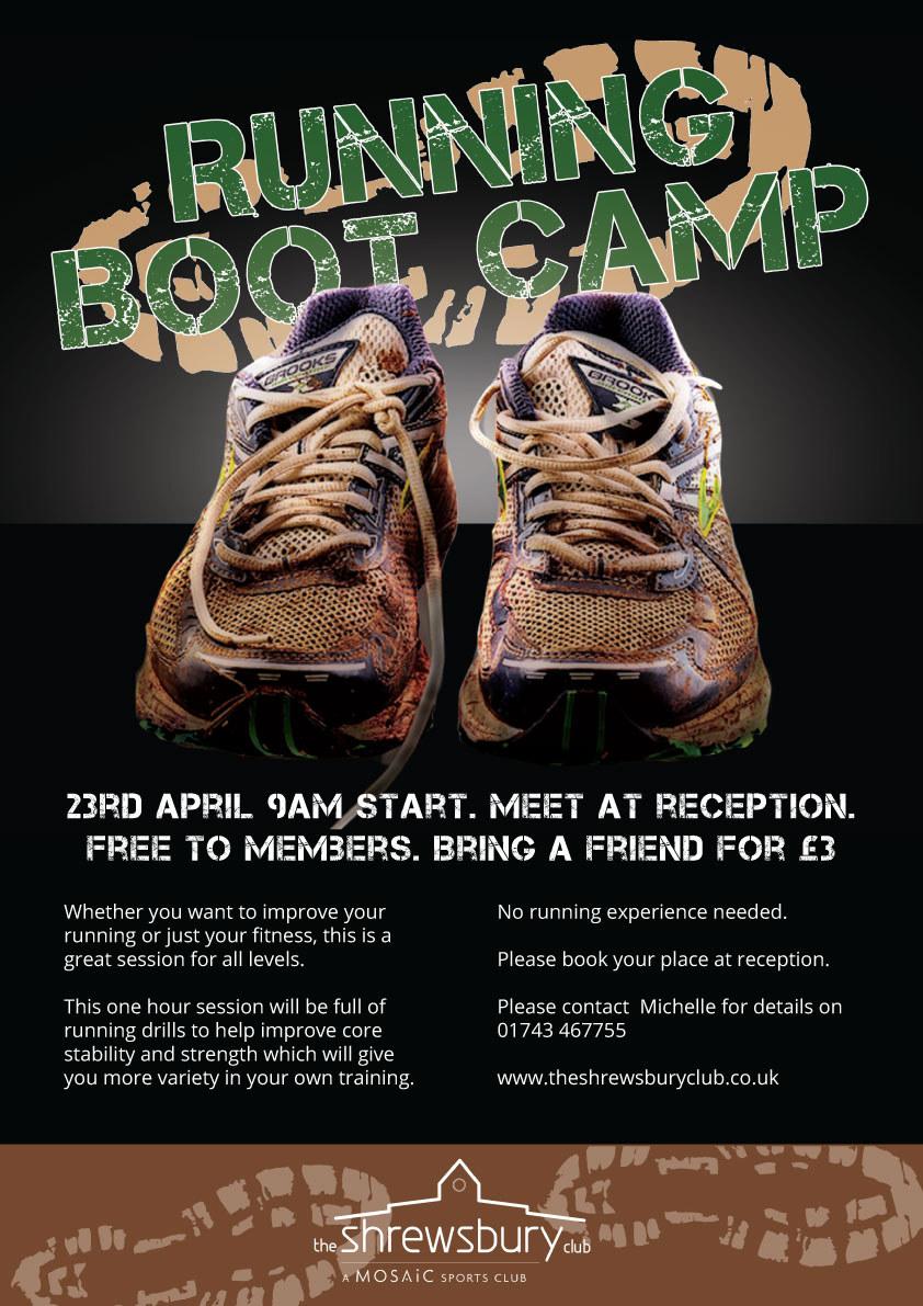 The Shrewsbury Club running boot camp poster