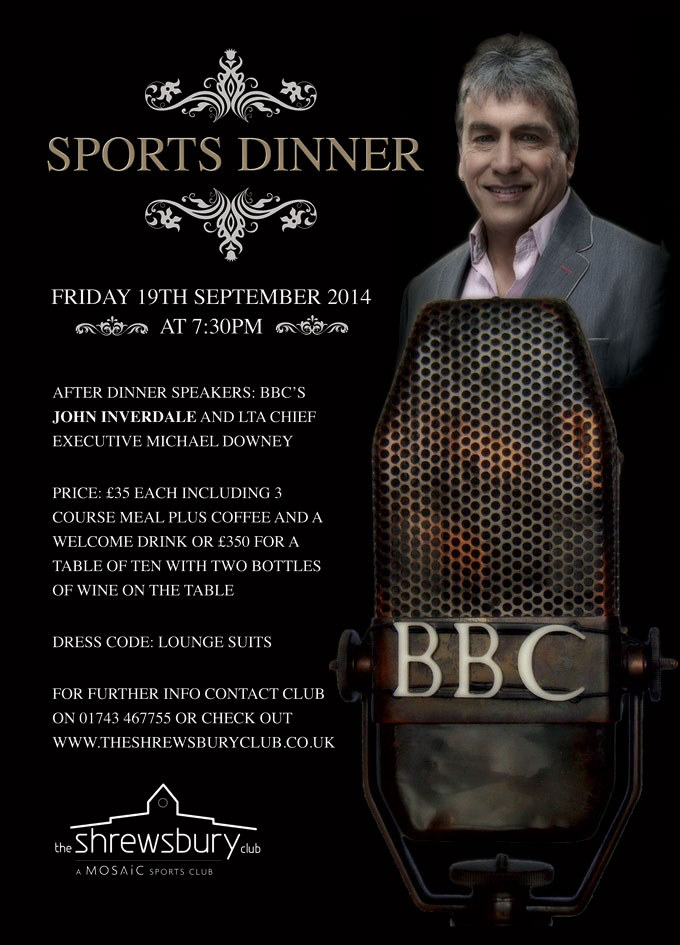 Aegon sports dinner poster 2014