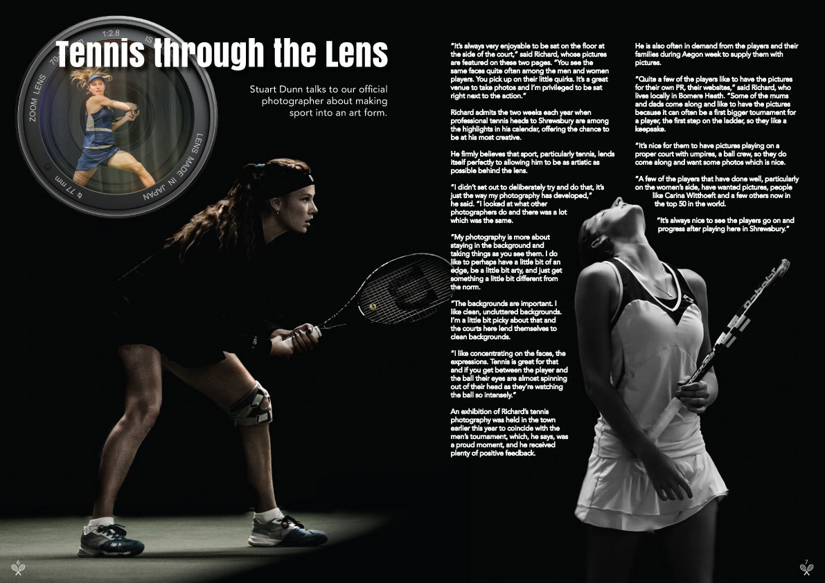 Aegon programme double page spread