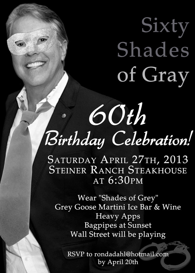 60th Birthday Party Invite