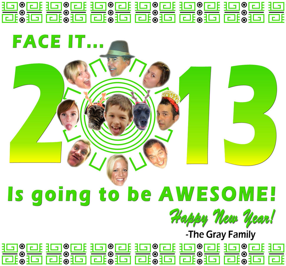Gray Family New Year's Card