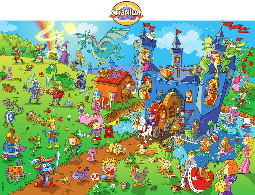 Game board for Cranium brands