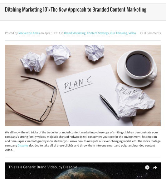 Ditching Marketing 101: The New Approach to Branded Content Marketing