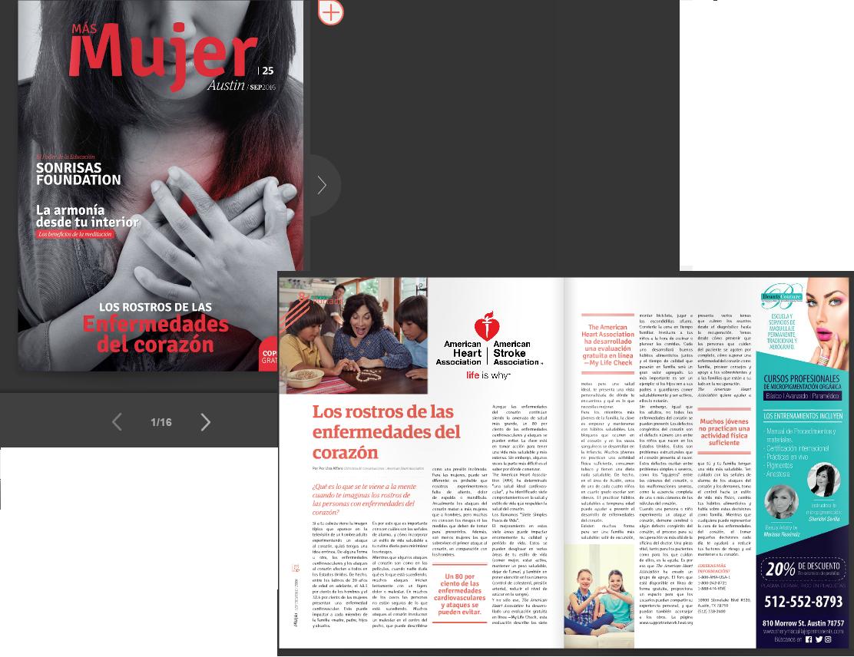 Full spread in Mas Mujer