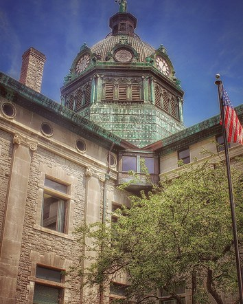 Broome County Court House from Collier Street