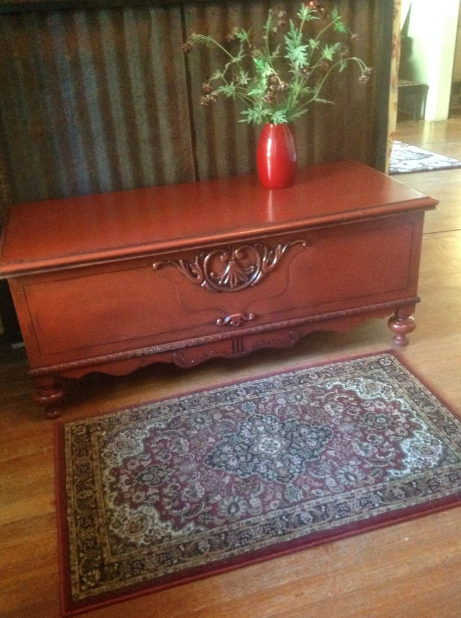Cinnabar cedar chest