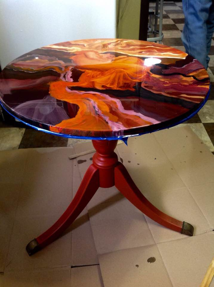 Flaming June Table