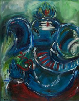 Blue Ganesh (SOLD)