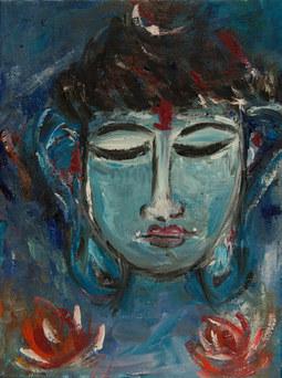 Blue Buddha (SOLD)
