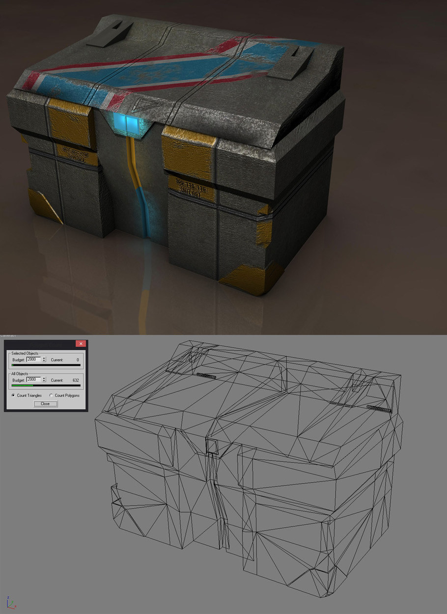 Crate Asset for Aliens V Predators